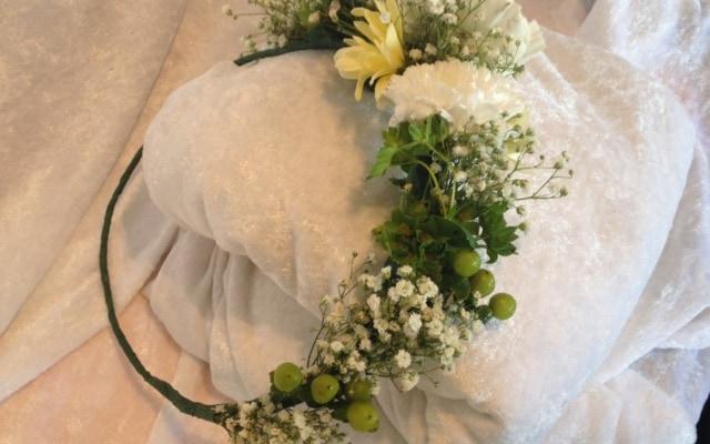 Blomsterkrans fra Søstra til Morten