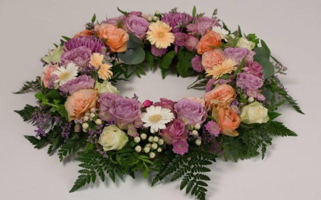 Krans til begravelse fra Søstra til Morten