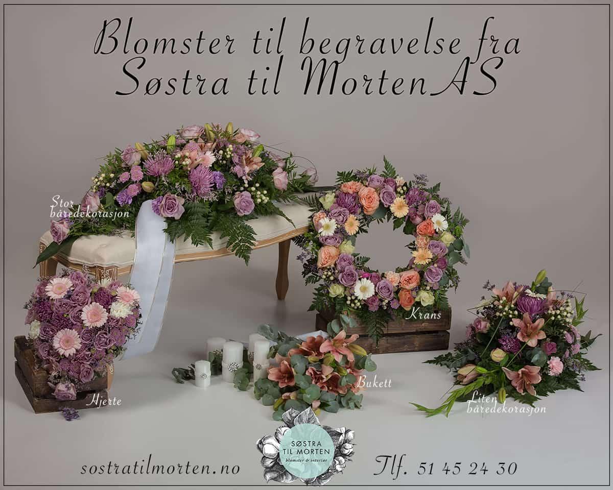 Blomster til Begravelse fra Søstra Til Morten AS